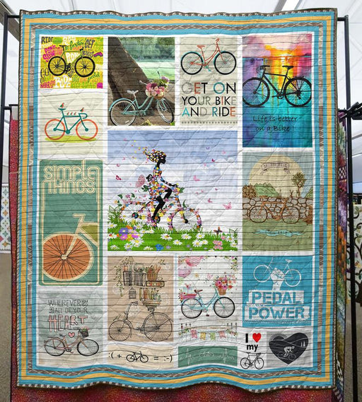 GET ON YOUR BIKE AND DRIVE - Premium Blanket