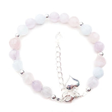 Load image into Gallery viewer, Pink, Purple & Pale Blue Quartz Gemstone Bracelet