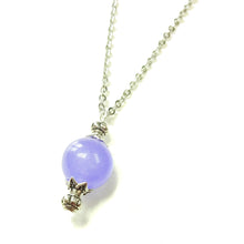Load image into Gallery viewer, Lilac Purple Semi-precious Jade & Antique Silver Ball Pendant
