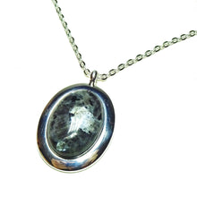 Load image into Gallery viewer, Grey Lavakite Classic Large Gemstone Pendant