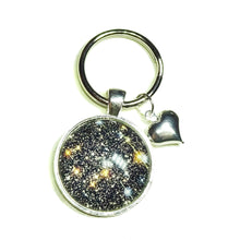 Load image into Gallery viewer, Galaxy Star Glass Cameo Keyring / Key Fob