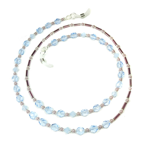 Sky Blue and Lilac Crystal Spectacle Glasses Chain