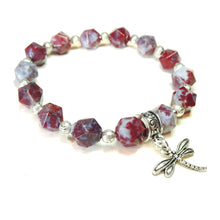 Load image into Gallery viewer, Red Lightening Agate Gemstone Stretch Bracelet - Ap. 19.5cm