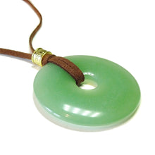 Load image into Gallery viewer, Green Aventurine Large Round Gemstone Donut Pendant - 50mm