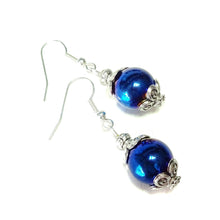 Load image into Gallery viewer, Blue Haematite Gemstone Drop Earrings