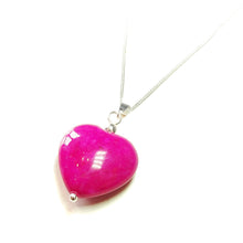 Load image into Gallery viewer, Pink Turquoise Heart & Sterling Silver Gemstone Pendant