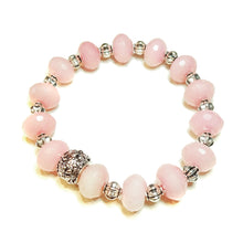 Load image into Gallery viewer, Pink Chalcedony Gemstone Stretch Bracelet - Ap. 20cm