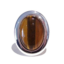 Load image into Gallery viewer, Large Brown Tiger Eye Gemstone Ring - Adjustable 33 x 25mm