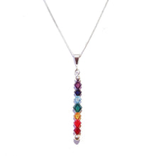 Load image into Gallery viewer, Swarovski Crystal & Sterling Silver Chakra Pendant