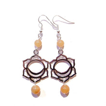 Load image into Gallery viewer, Orange Aventurine Semi-precious Gemstone Sacral / Svadhisthana Chakra Earrings