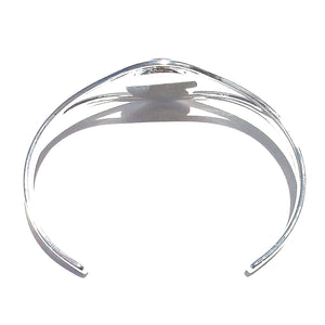 Blue Lapis Lazuli Classic Gemstone Silver Plated Bangle