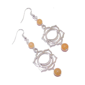 Orange Aventurine Semi-precious Gemstone Sacral / Svadhisthana Chakra Earrings