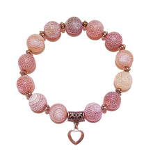 Load image into Gallery viewer, Red Crazy Agate & Copper Stretch Bracelet Approx. 21cm
