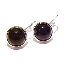 Load image into Gallery viewer, Black Onyx Lever Back Gemstone Earrings