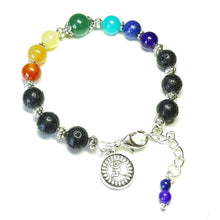 Load image into Gallery viewer, Gemstone Chakra Essential Oil Diffuser Bangle