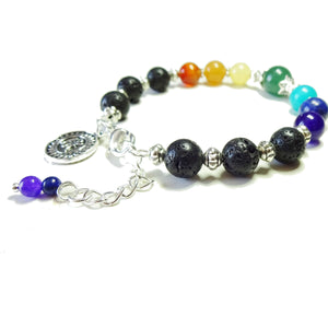 Gemstone Chakra Essential Oil Diffuser Bangle