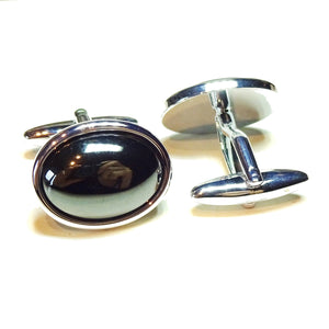 Grey Haematite Semi-precious Gemstone Cufflinks