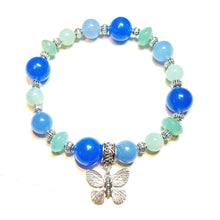 Load image into Gallery viewer, Gemstone Power Bracelet - Quartz, Amazonite, Jade - Tranquility, Healing & Soothing Ap. 21cm