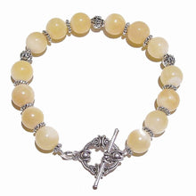 Load image into Gallery viewer, Yellow Honey Jade Gemstone Bracelet 21cm