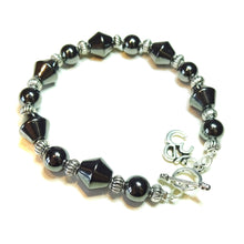 Load image into Gallery viewer, Grey Haematite Gemstone Handcrafted Bracelet 20cm