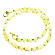 Load image into Gallery viewer, Yellow Honey Jade Semi-Precious Gemstone Necklace - 22.5 inches