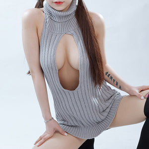 Virgin Killer Sweater Bodysuit Japanese Style (LargeOpening in Front)