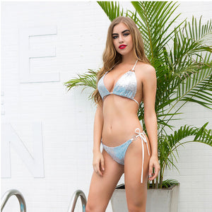 Hot Bikini Green/Pink/Silver Colors - Beach Body Wear (Bikinis, Swimwear and Swimsuits)