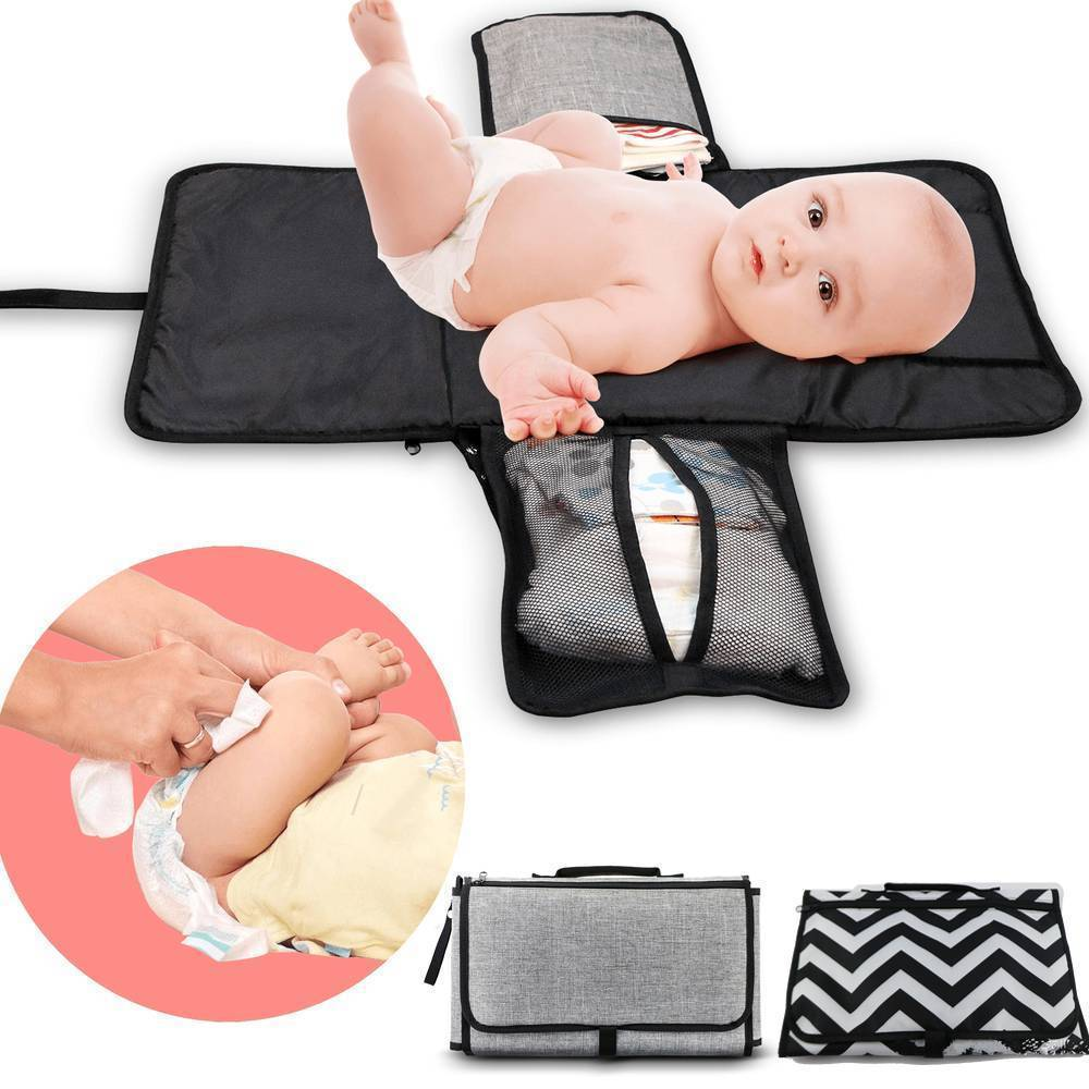 3-in-1 Waterproof Foldable Changing Diaper Pad Bag - 14:29#Dark Gray;200007763:201336100 - | Little Sunshine Baby Shop