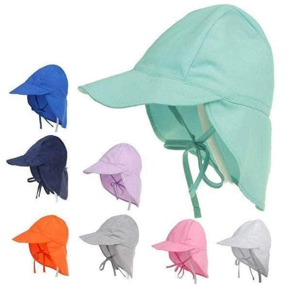 Adjustable Sun Protective Baby Safari Hat - 14:173#Blue solid;5:100014064#S(44-48cm) - Hats & Beanies| Little Sunshine Baby Shop