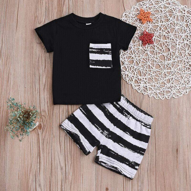 Baby Boys Summer T-Shirt and Short Set - 200000463:200169197 - Boys, Outfit Sets, summer| Little Sunshine Baby Shop
