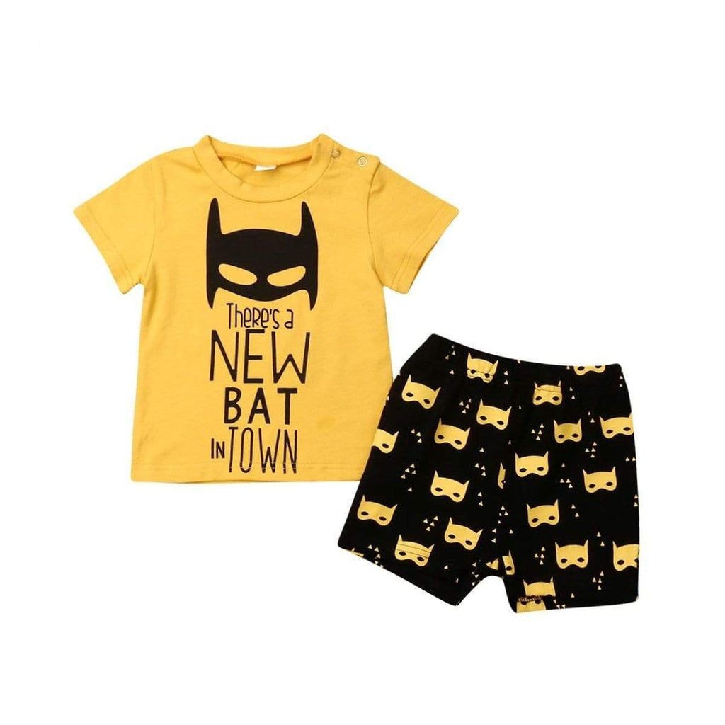 Baby Toddler Boy Bat 2 Piece Outfit Set - 200000463:200661895 - Boys, Outfit Sets| Little Sunshine Baby Shop