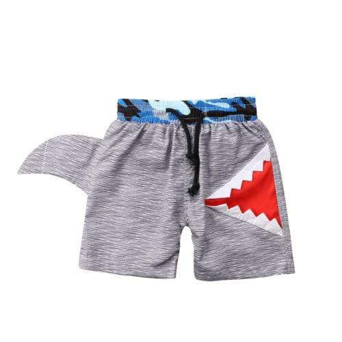 Baby Toddler Boy Shark Swim Shorts Little Sunshine Baby Shop 100005723 Gray / 2T