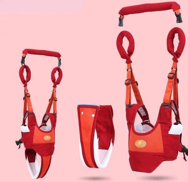 Baby Walker Handheld Walking Assistant Harness Little Sunshine L.L.C 200002067 Red and Orange