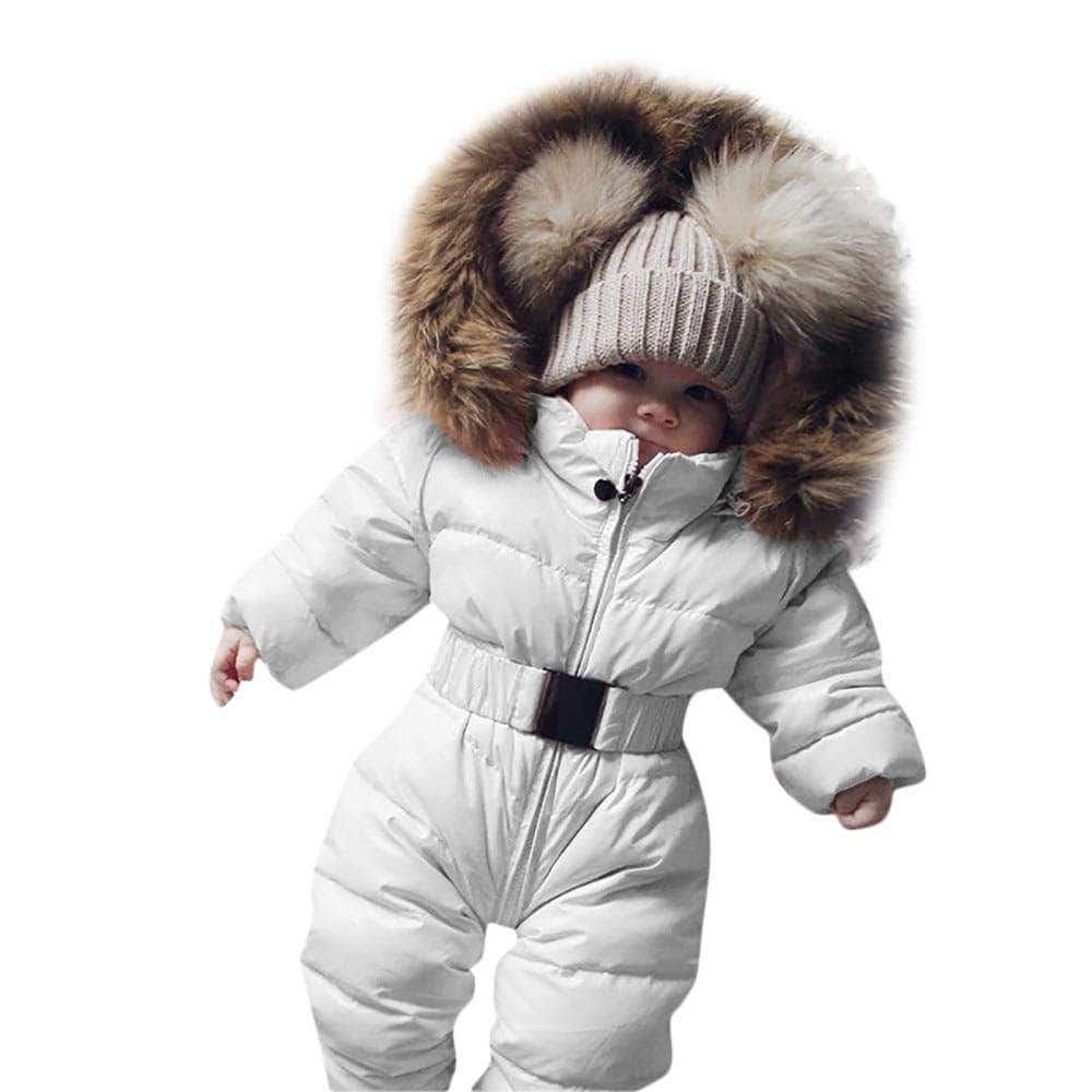 Baby Winter Clothes - Thick Fur Hoodie Romper Little Sunshine Baby Shop 31006