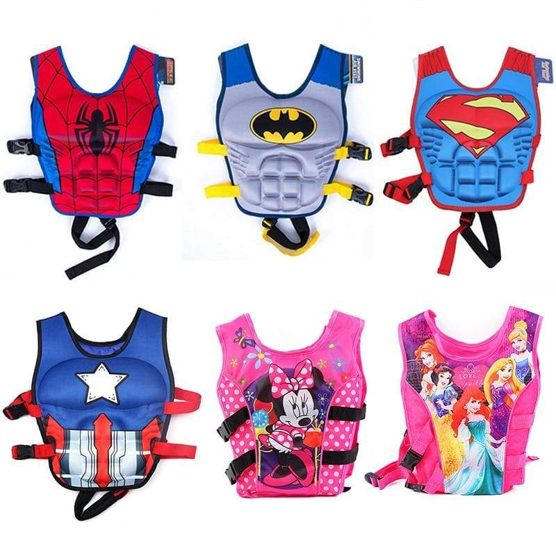 Cartoon Superhero Life Jacket Floating Swim Vest - 14:29#Spiderman - | Little Sunshine Baby Shop