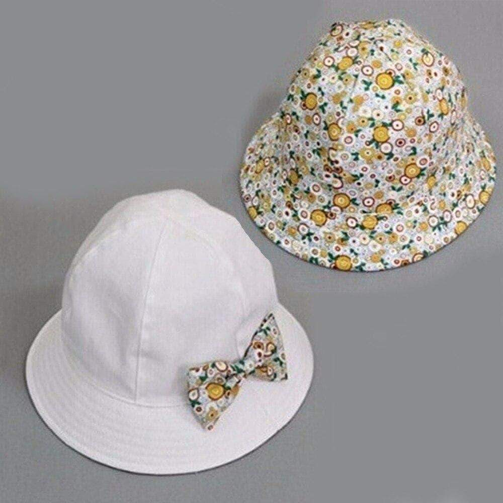 Little Sunshine LLC 32701 Flower Print Convertible Baby Hat