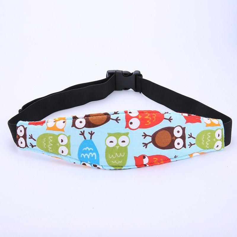 Baby Car Seat Head Support Safety Belt Little Sunshine Limited 200002035 Owls on Blue