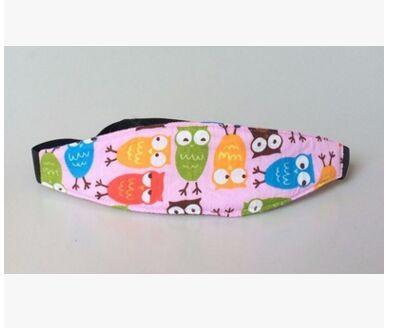 Baby Car Seat Head Support Safety Belt Little Sunshine Limited 200002035 Owls on Pink