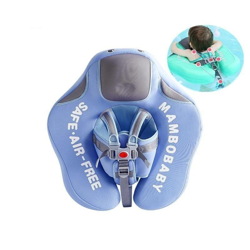 Mambo Baby Float with Optional Canopy - Safety Swimming Trainer 3.0 (2019 Revision) - 14:691#Upgrade climb blue - Bath & Pool Floats, Learning, Safety, Swim Trainers| Little Sunshine Baby Shop