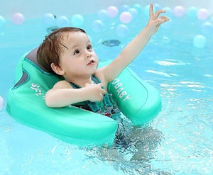 Mambo Baby Float with UV Canopy - Waterproof Safety Swim Trainer - GreenCanopy - Bath & Pool Floats, Learning, Safety, Swim Trainers| Little Sunshine Baby Shop