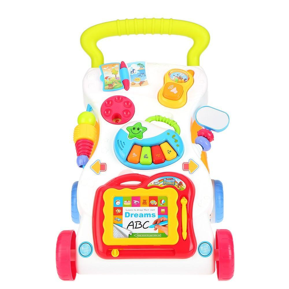 Little Sunshine L.L.C 200002070 Multi Color Sit-to-Stand Learning Push Walker