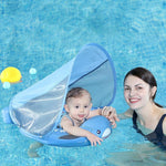 Shark Swim Float with Sun Canopy for Babies - 14:173#3D shark blue - Bath & Pool Floats, Safety| Little Sunshine Baby Shop