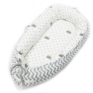 Portable Baby Nest Crib With Bonus Carry Pack Little Sunshine Limited Grey & White