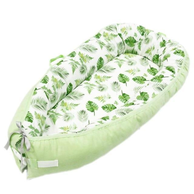 Portable Baby Nest Crib With Bonus Carry Pack Little Sunshine Limited Green Leaves