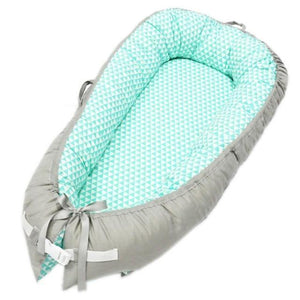 Portable Baby Nest Crib With Bonus Carry Pack Little Sunshine Limited Grey & Teal