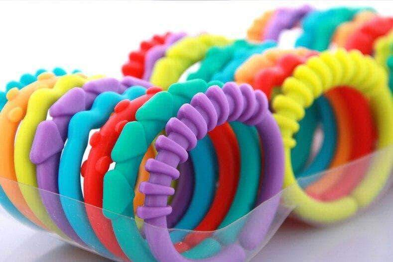 Rainbow Ring Links Teether Toys - Default - | Little Sunshine Baby Shop