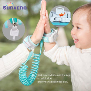 Sunveno Baby Anti Lost Wrist Link Safety Harness Leash - 14:173#blue - | Little Sunshine Baby Shop