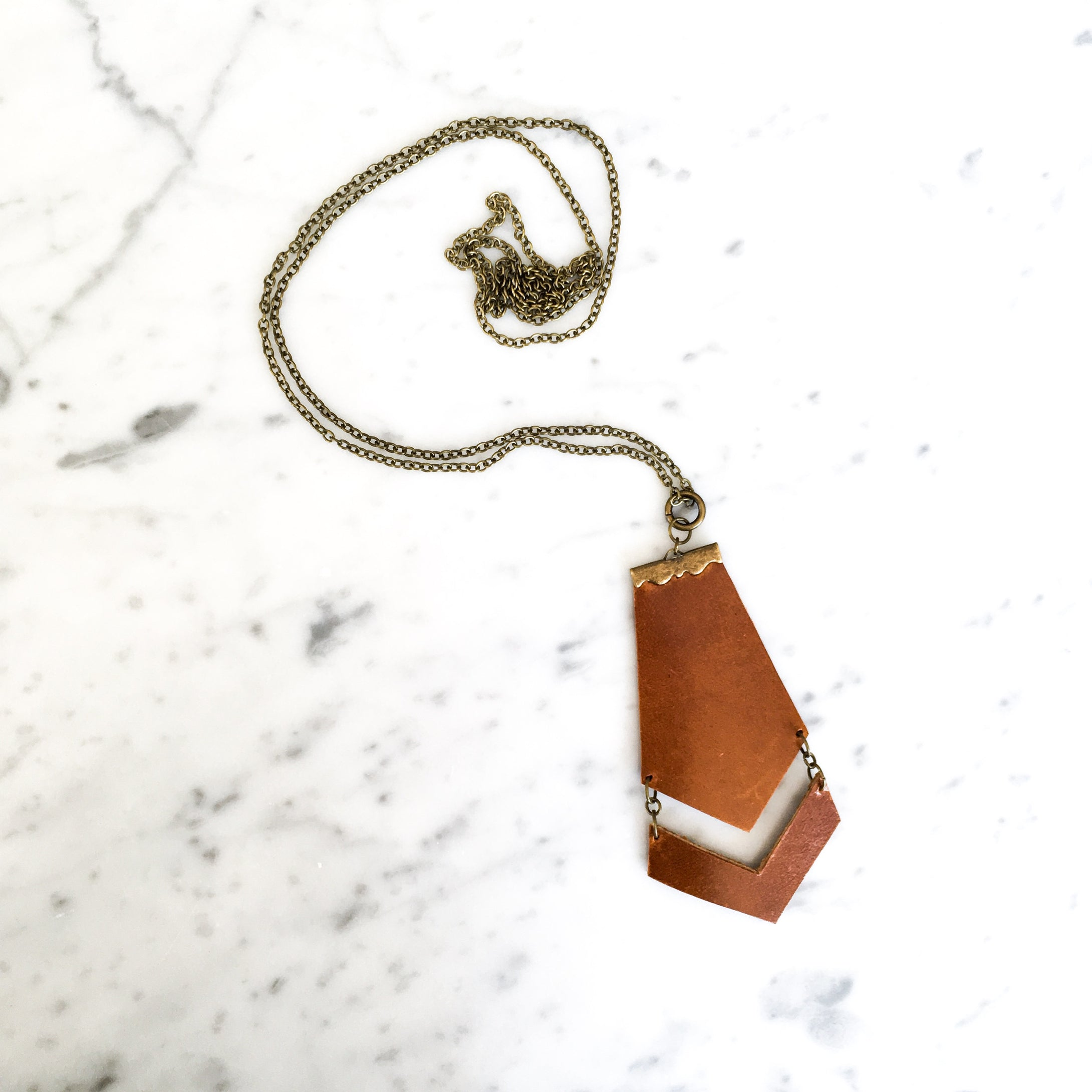 Willow Leather Pendant Necklace