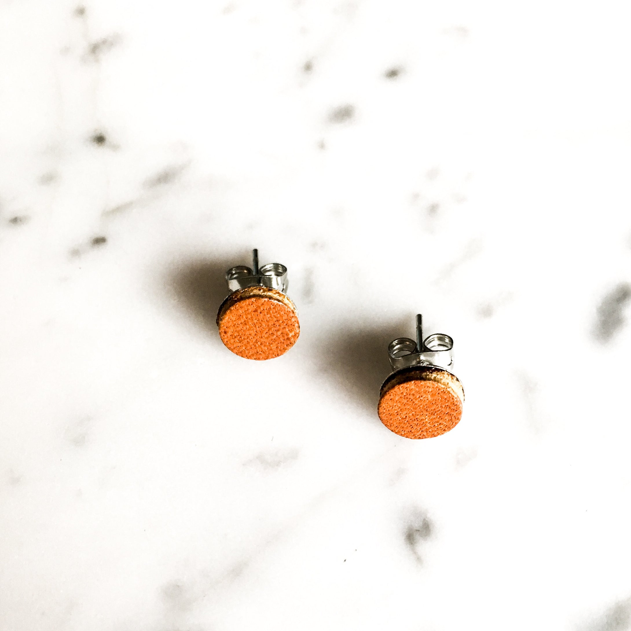 On-Point Leather Post Earring
