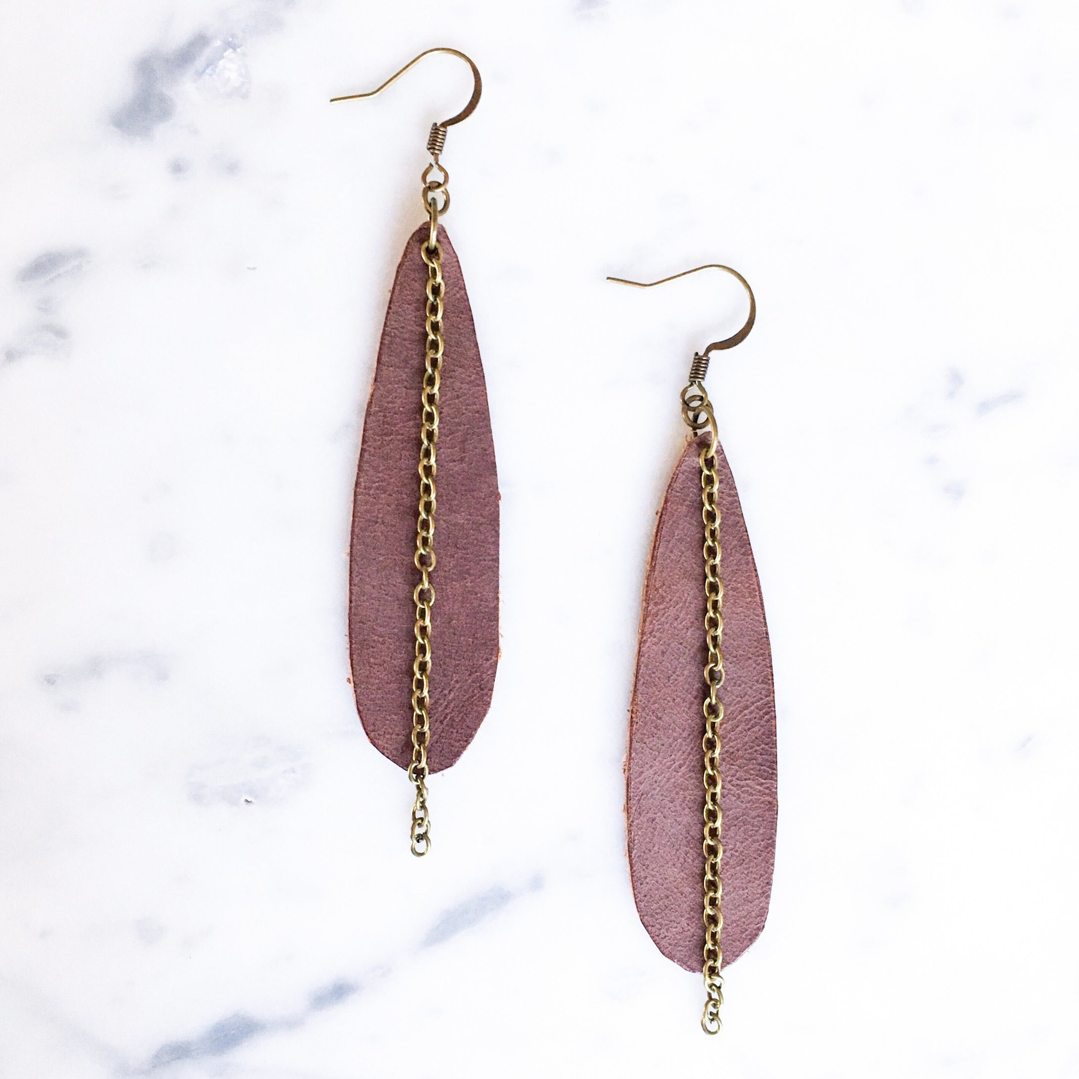 Collette Leather Earring